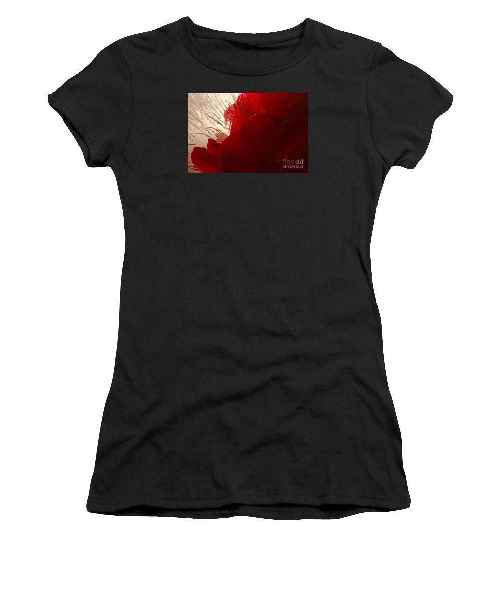 Rose Women's T-Shirt (Athletic Fit) featuring the photograph Red Ice by Randi Grace Nilsberg