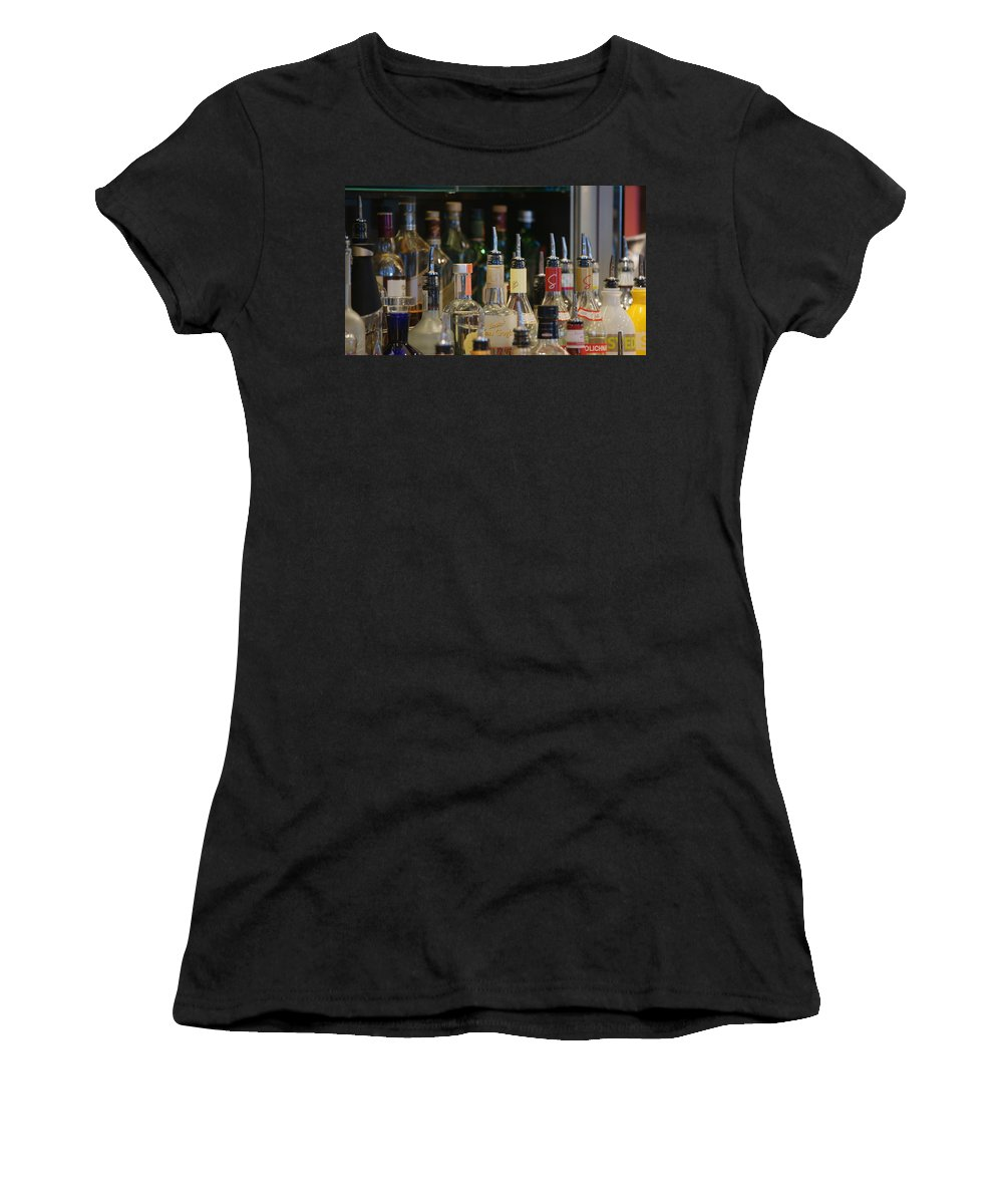 Bottles Women's T-Shirt featuring the photograph Reflection by Crystal Harman