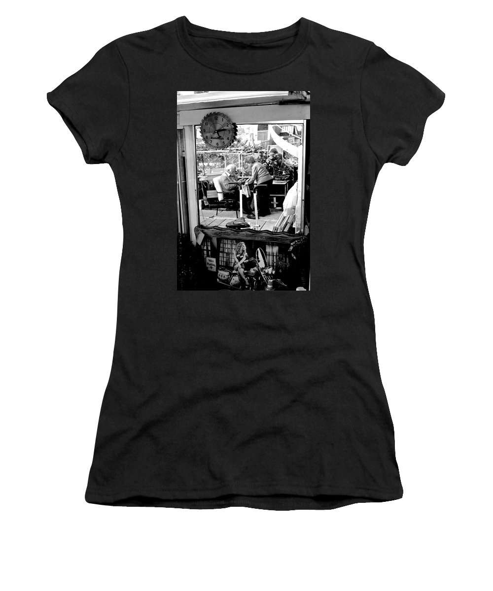 Women's T-Shirt featuring the photograph Reflection Into The Future - Retired In My Haven by Donato Iannuzzi