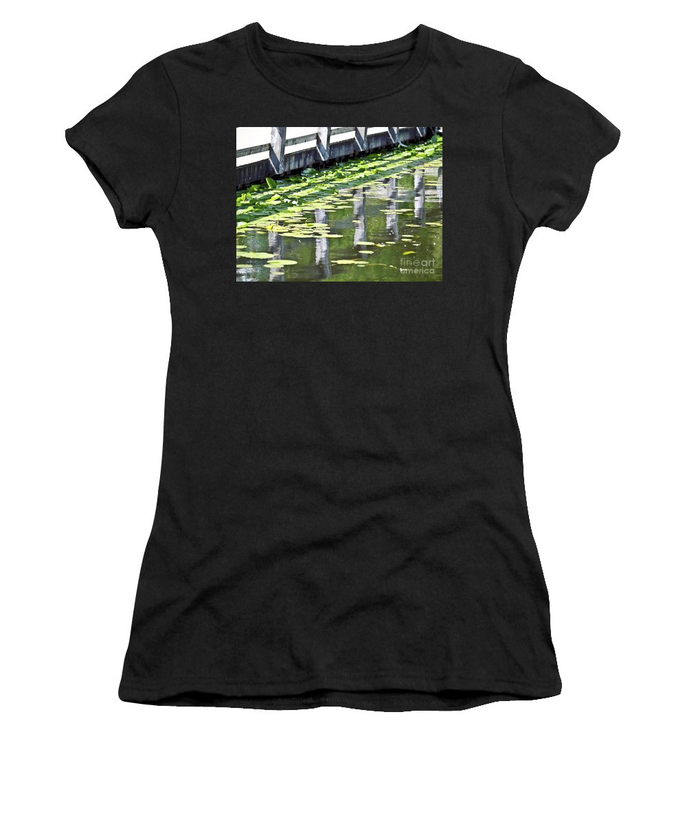 Reflection Women's T-Shirt (Athletic Fit) featuring the photograph Reflection On The Pond by David Fabian