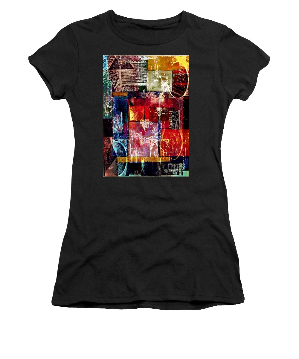 Digital Art Abstract Women's T-Shirt (Athletic Fit) featuring the digital art Reflection by Yael VanGruber