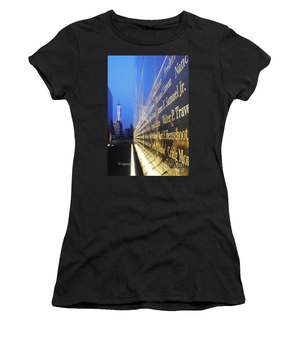 One World Trade Center Women's T-Shirt featuring the photograph Remembering 9/11-hope And Despair by Regina Geoghan