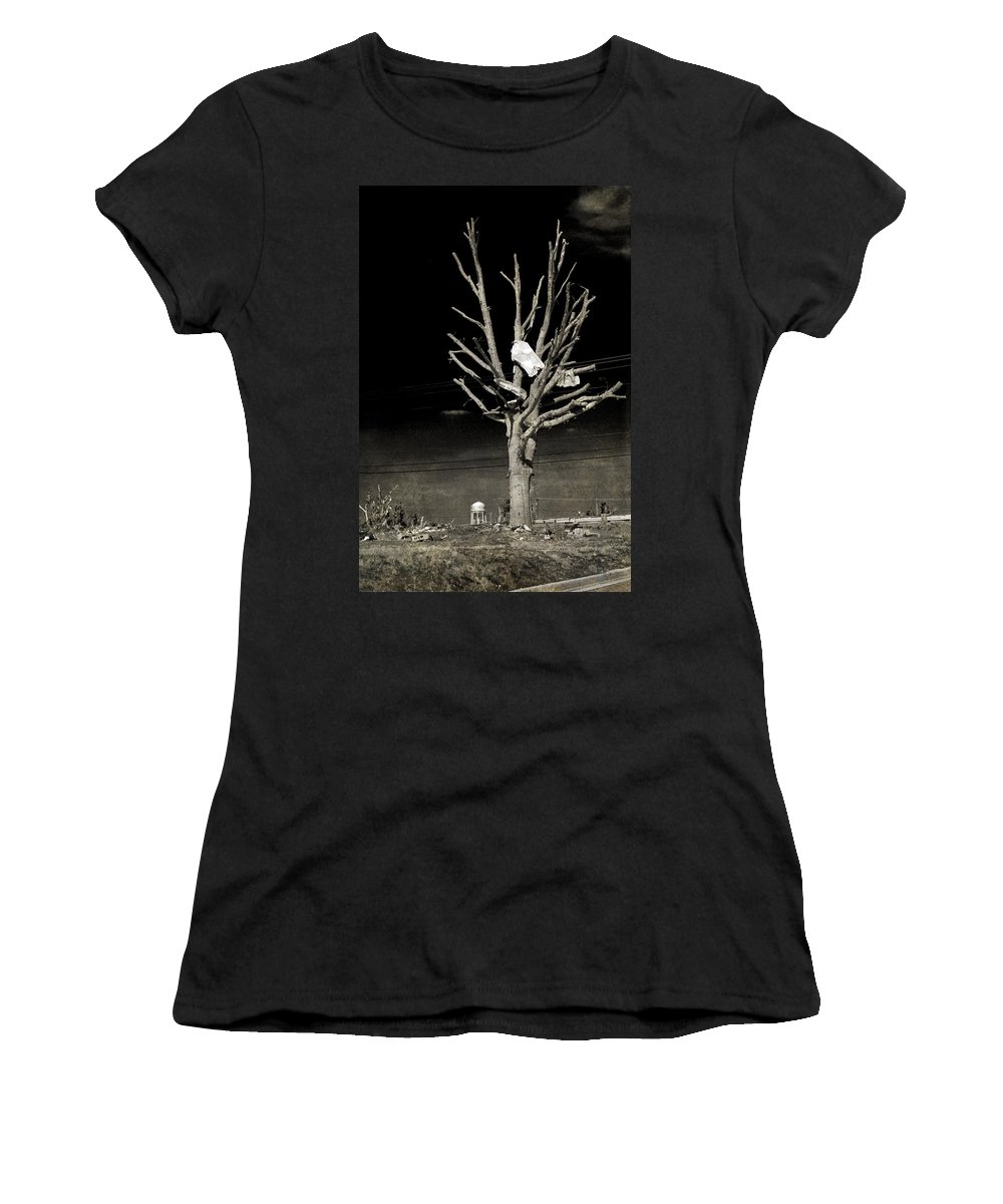 Tree Women's T-Shirt (Athletic Fit) featuring the photograph Remembering Joplin by Judy Hall-Folde