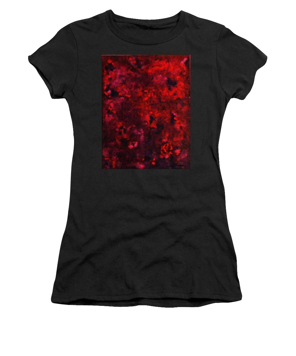 Acrylic Women's T-Shirt (Athletic Fit) featuring the painting Remembrance by Todd Hoover