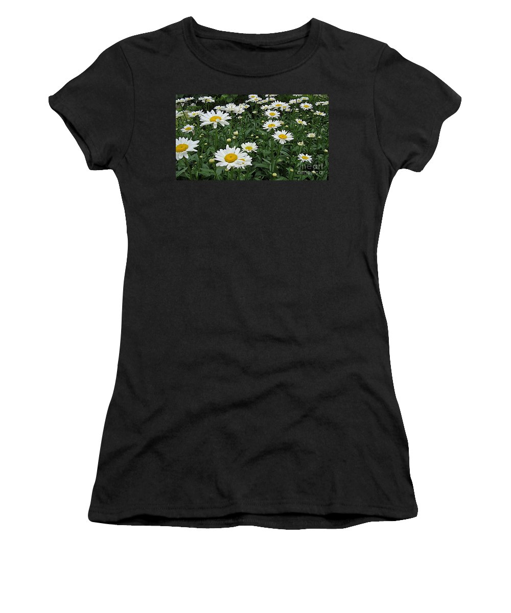 Daisy Women's T-Shirt (Athletic Fit) featuring the photograph Requested Daisies by Joseph Yarbrough
