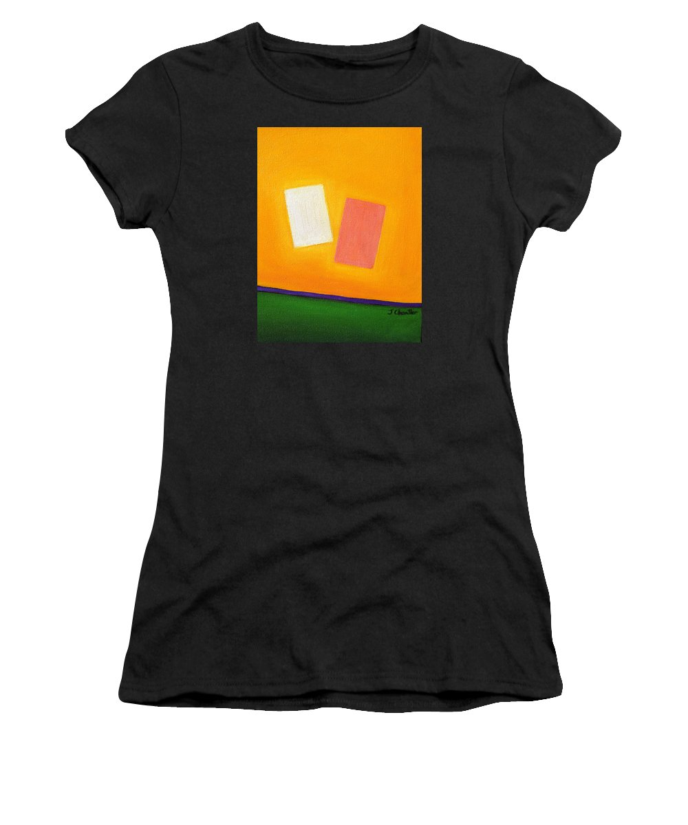 Return Of Lost Parts Women's T-Shirt (Athletic Fit) featuring the painting Return Of Lost Parts by Judith Chantler