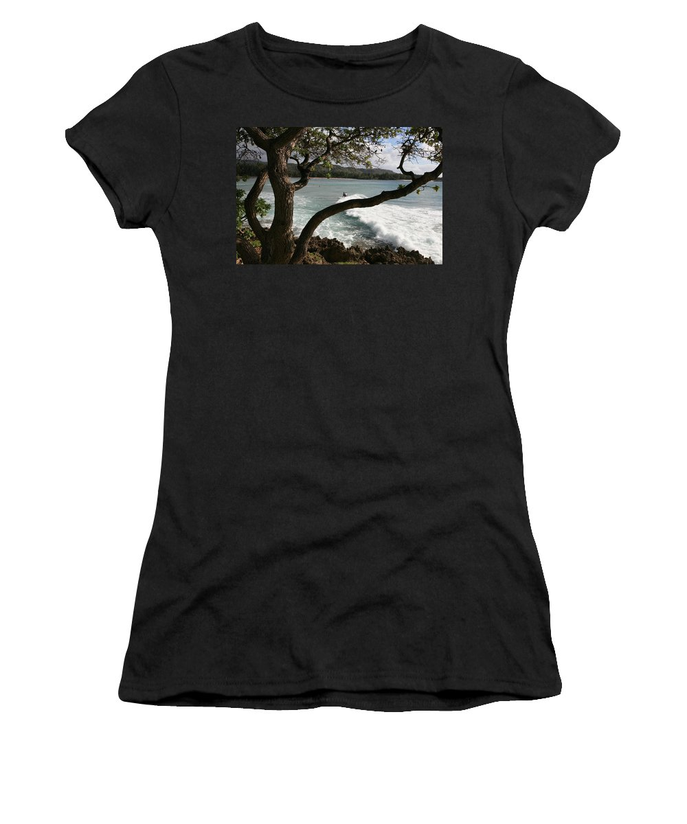 Hawaii Women's T-Shirt featuring the photograph Riding The Waves by Eric Swan