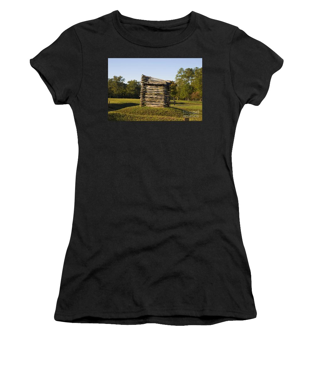 Ninety Six National Historic Site Women's T-Shirt (Athletic Fit) featuring the photograph Rifle Tower Ninety Six National Historic Site by Jason O Watson