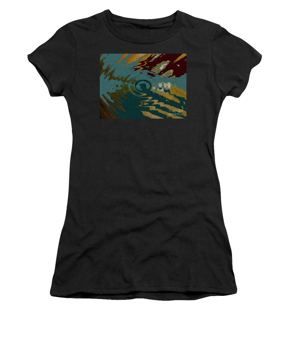 Dramatic Sky Women's T-Shirt featuring the photograph Rippled Time by Joseph Baril