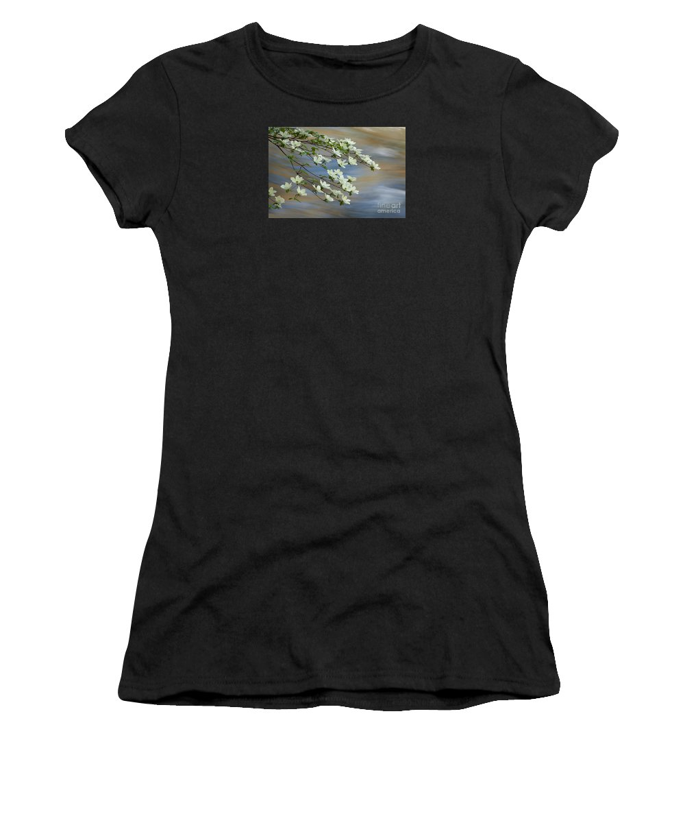 Flowers Women's T-Shirt (Athletic Fit) featuring the photograph River Dogwood by Alice Cahill