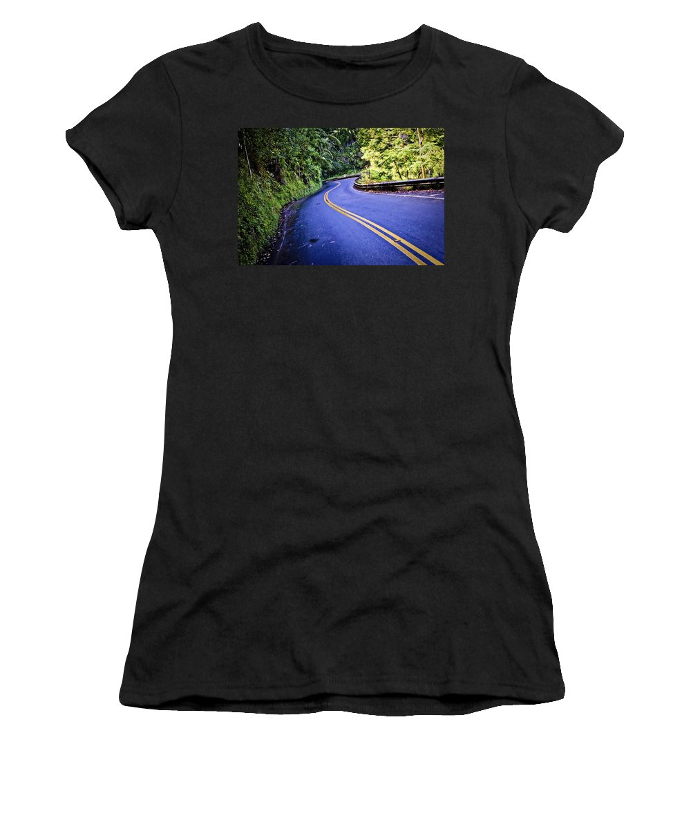 3scape Women's T-Shirt featuring the photograph Road To Hana by Adam Romanowicz