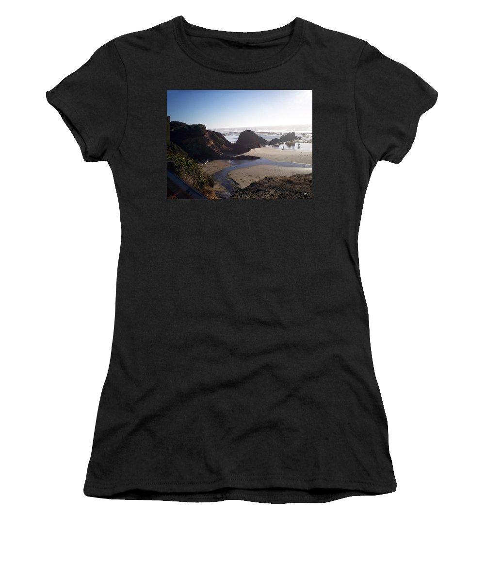 Beach Women's T-Shirt featuring the photograph Rocky Coastline by Absinthe Art By Michelle LeAnn Scott