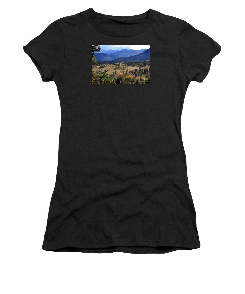 Nature Women's T-Shirt featuring the photograph Rocky Mountain Evening by Nava Thompson