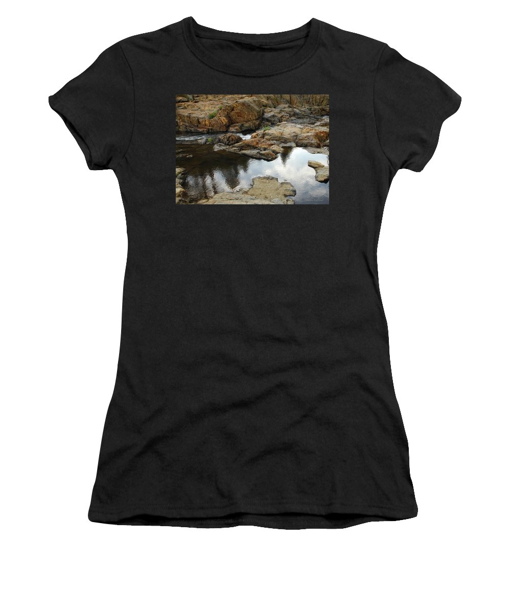 Rock Women's T-Shirt featuring the photograph Rocky Road by Donna Blackhall