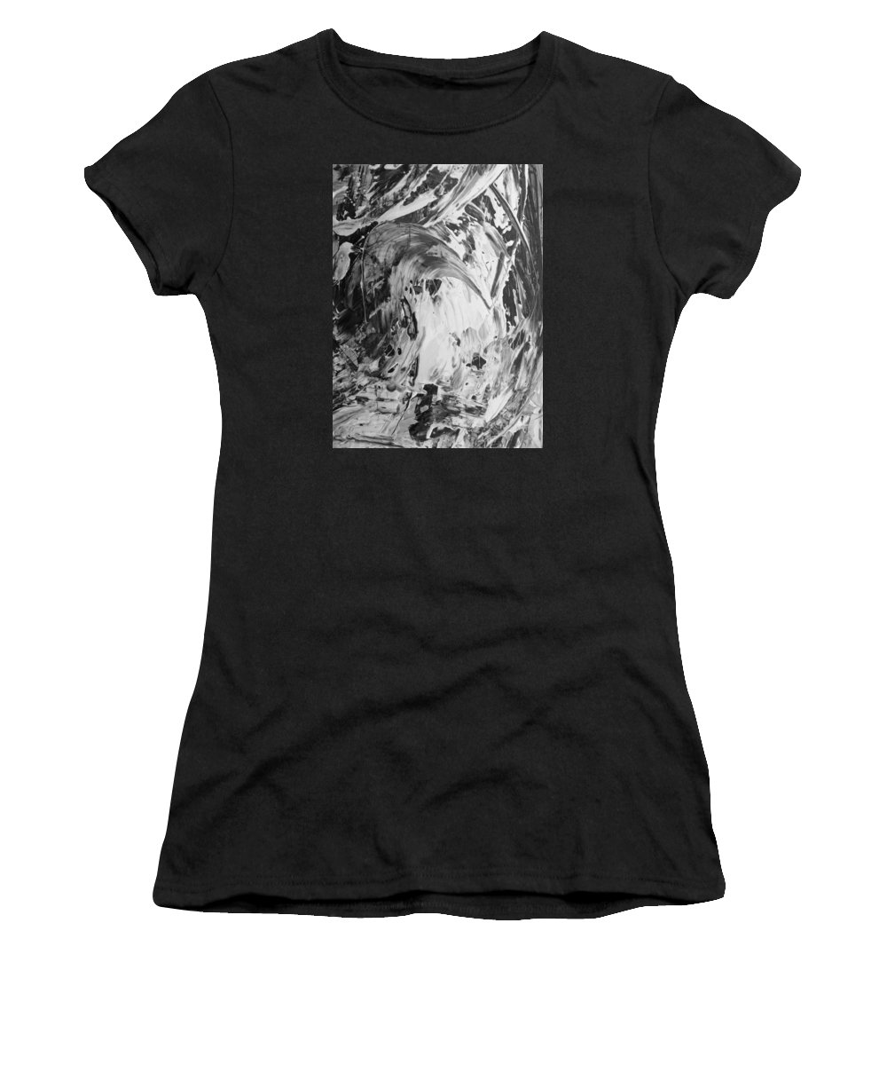 Original Women's T-Shirt featuring the painting Rolling Bumper by Artist Ai
