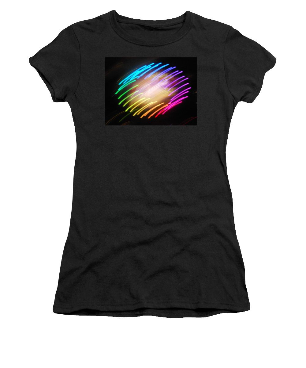 Abstract Women's T-Shirt featuring the photograph Rosabella by James Welch