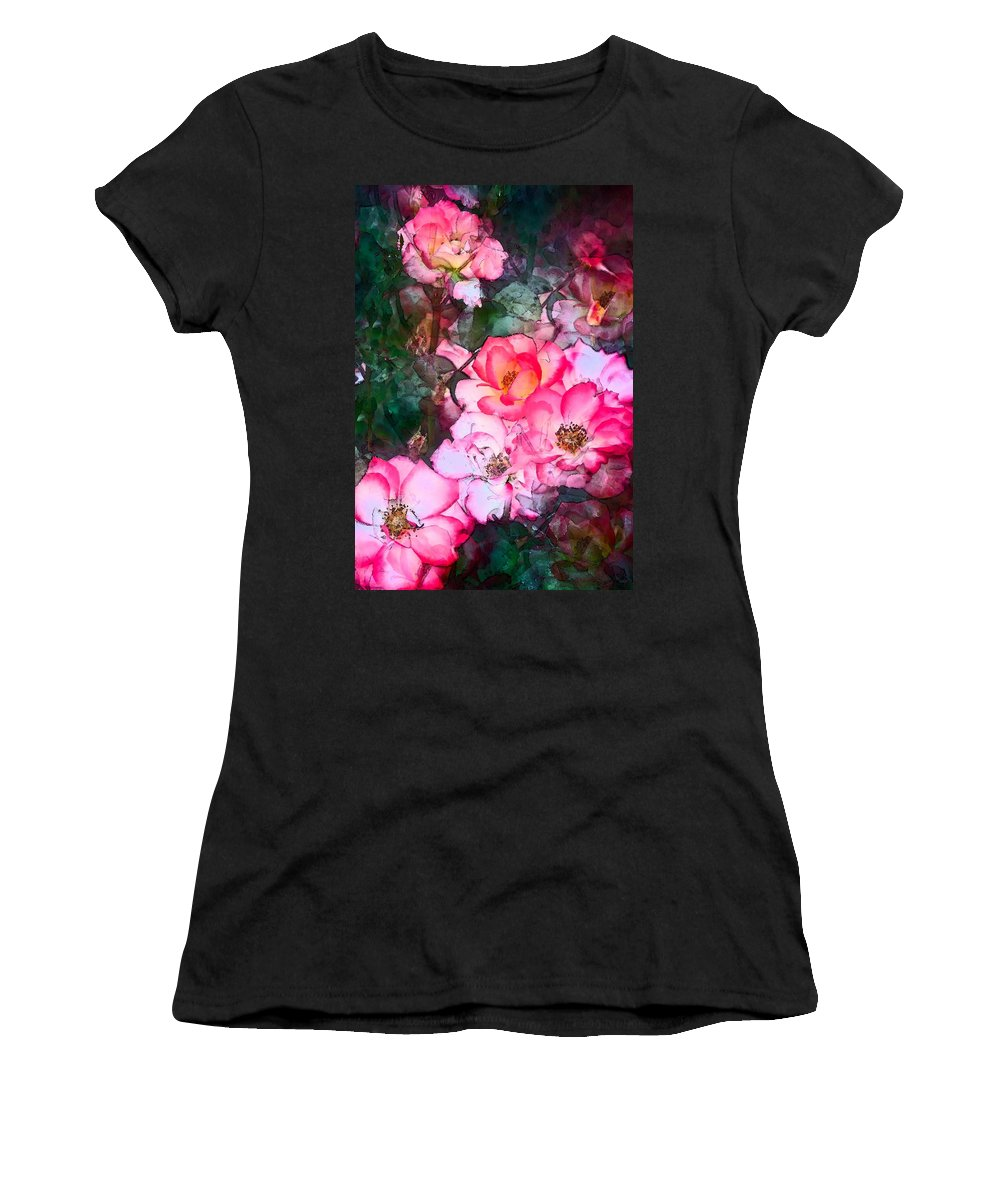 Floral Women's T-Shirt (Athletic Fit) featuring the photograph Rose 239 by Pamela Cooper