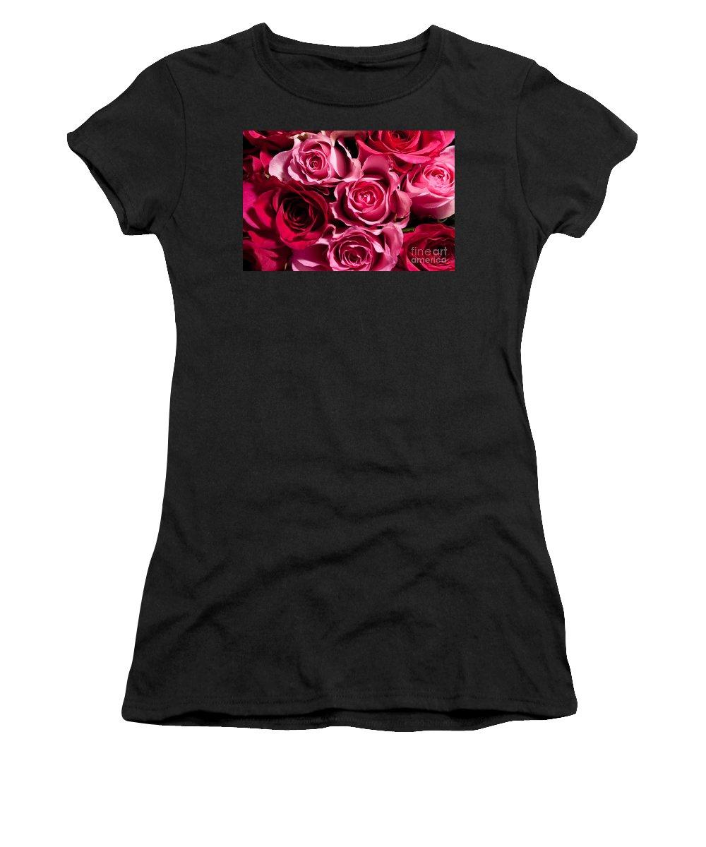 Flowers Women's T-Shirt featuring the photograph Roses by Matt Malloy
