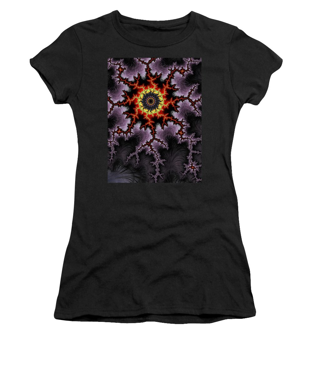 Fractal Women's T-Shirt (Athletic Fit) featuring the digital art Rough Night by GJ Blackman