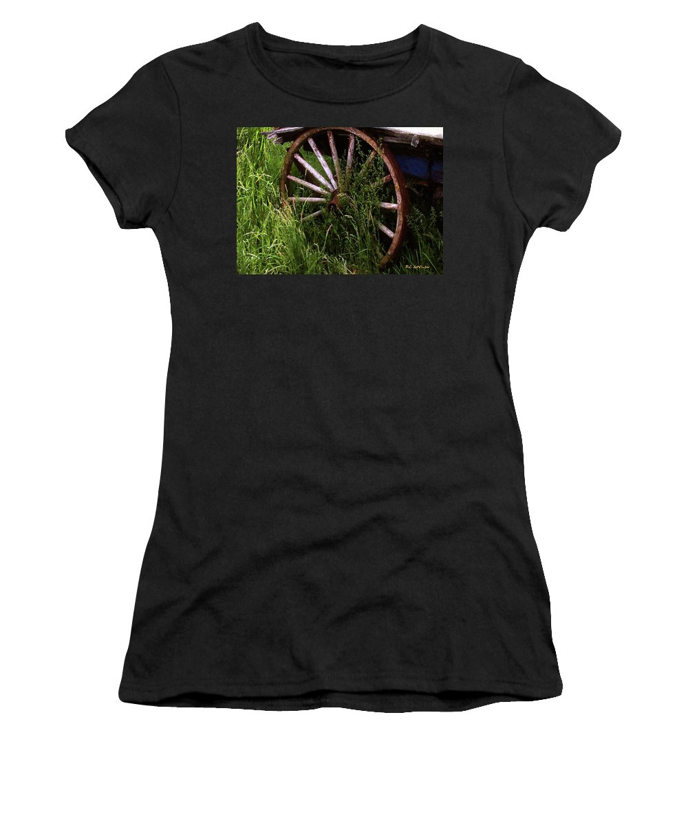 Wagon Women's T-Shirt (Athletic Fit) featuring the painting Round And Rusty by RC DeWinter