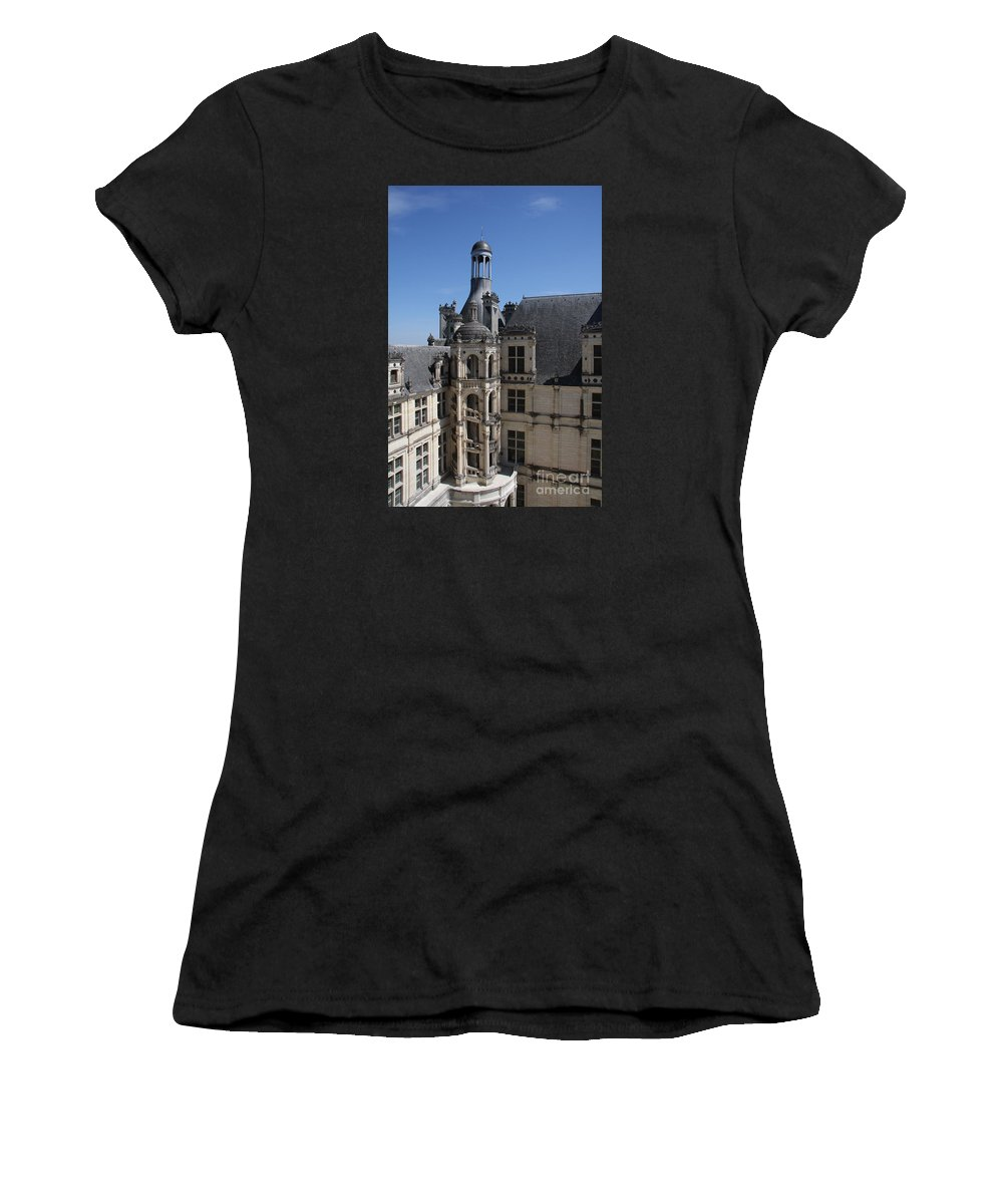 Palace Women's T-Shirt (Athletic Fit) featuring the photograph Round Stairway by Christiane Schulze Art And Photography