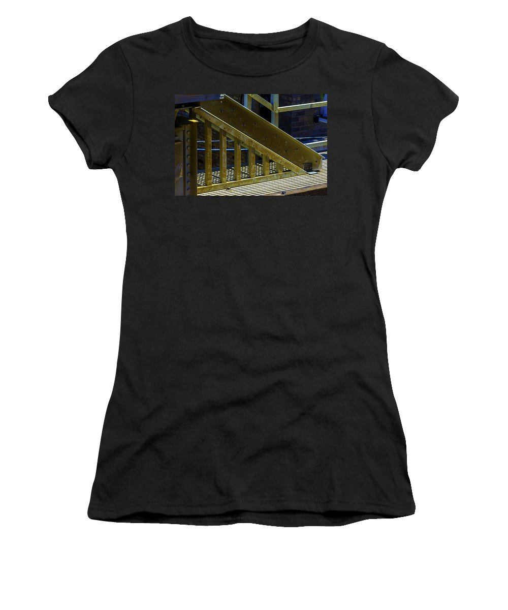 Women's T-Shirt (Athletic Fit) featuring the photograph Rusty Triangle by Raymond Kunst