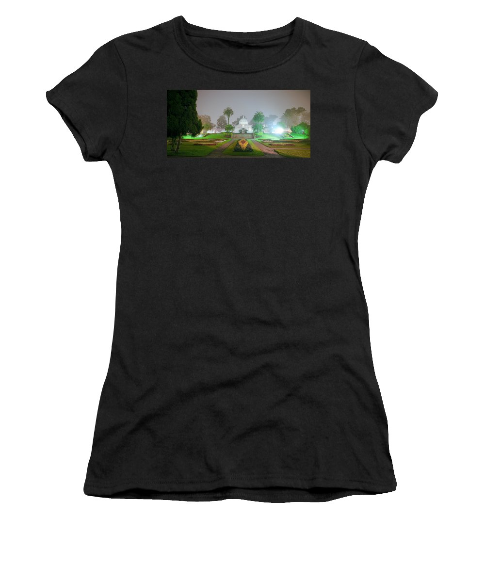 Conservatory Of Flowers Women's T-Shirt featuring the photograph San Francisco Conservatory Of Flowers by Daniel Furon