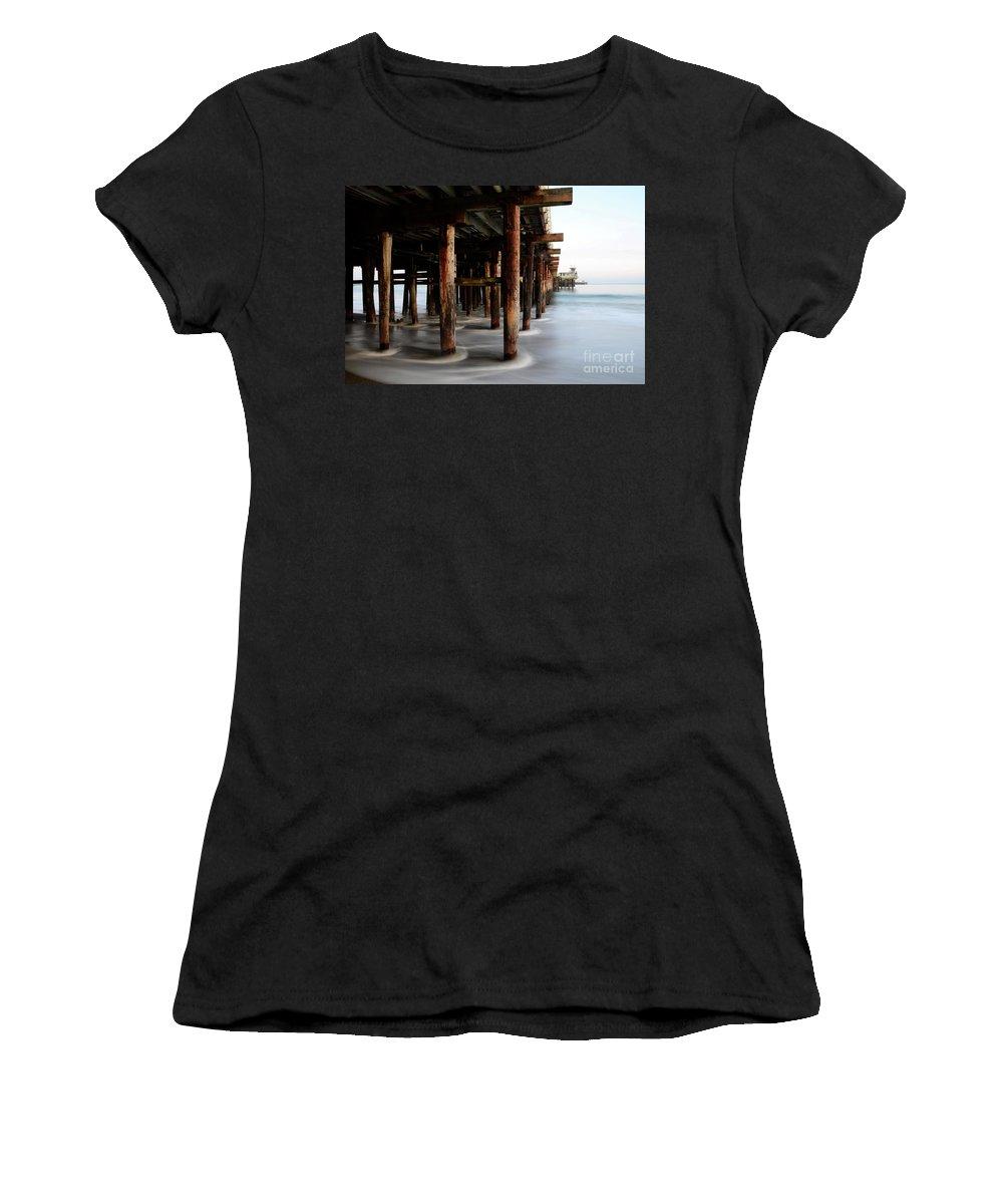 Pier Women's T-Shirt featuring the photograph Santa Cruz Pier California by Bob Christopher