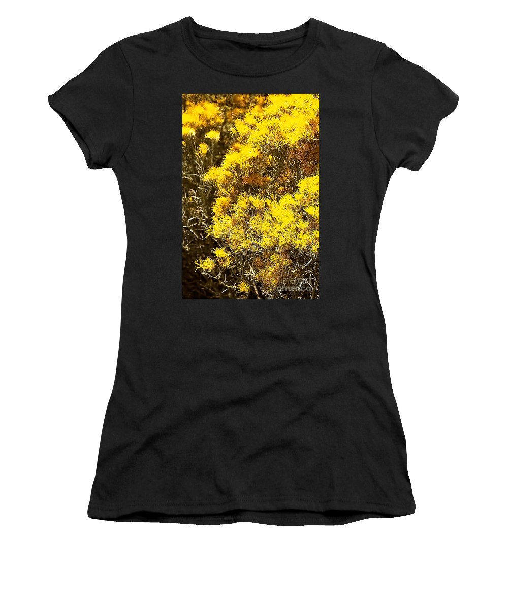 Color Photo Women's T-Shirt featuring the digital art Santa Fe Yellow by Tim Richards