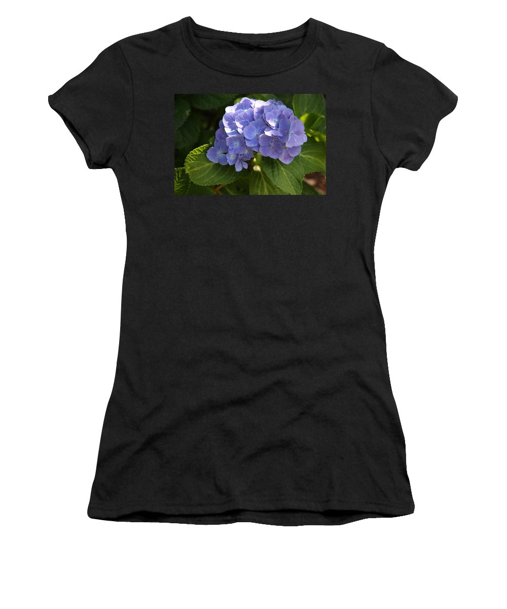 Hydrangea Women's T-Shirt featuring the photograph Sapphire Dream by Christiane Schulze Art And Photography
