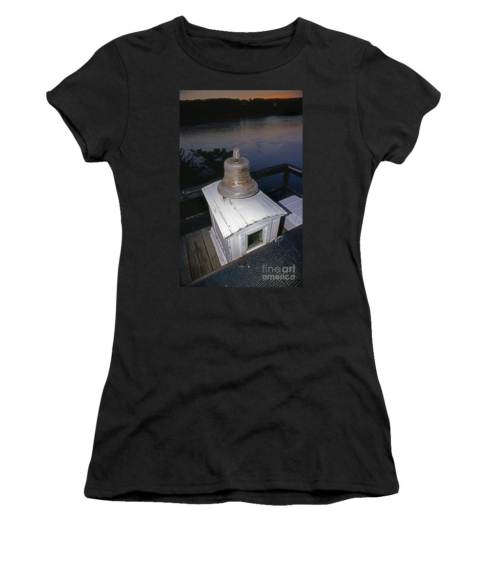 Lighthouses Women's T-Shirt featuring the photograph Saugerties Bell by Skip Willits