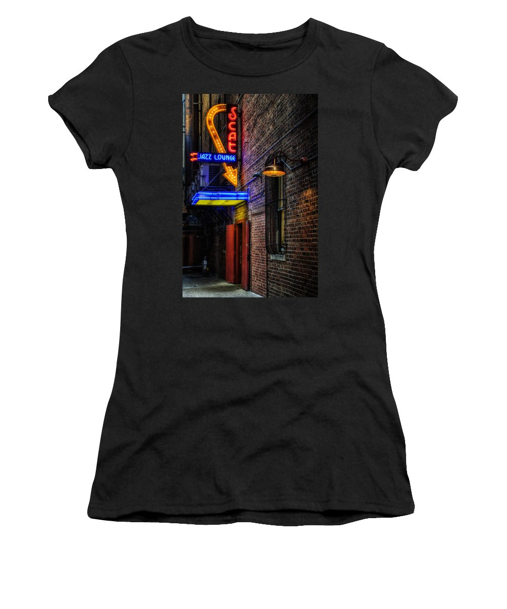Scat Lounge Women's T-Shirt featuring the photograph Scat Lounge Living Color by Joan Carroll
