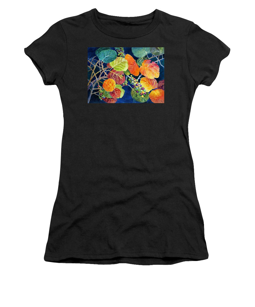 Seagrapes Women's T-Shirt featuring the painting Sea Grapes II by Roger Rockefeller