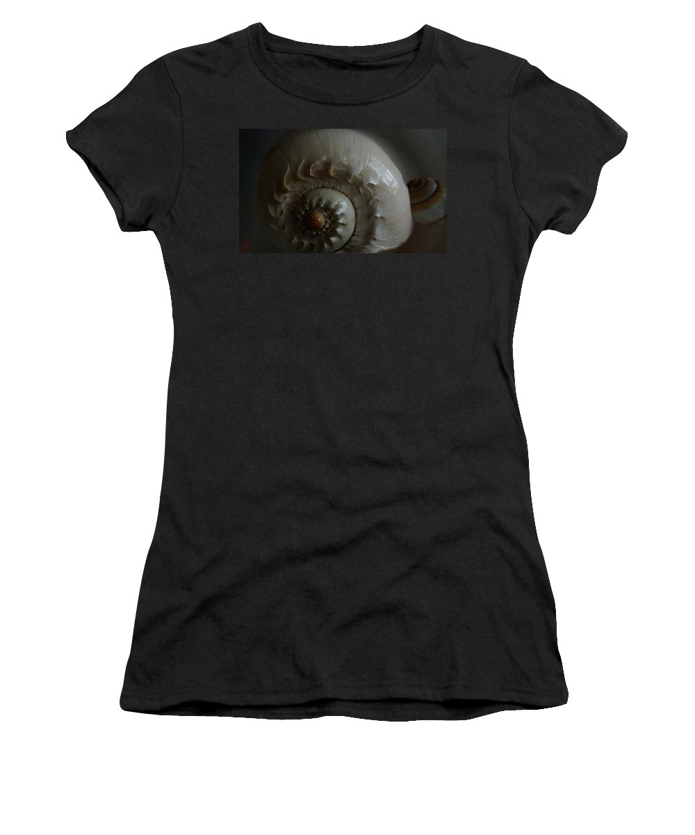 Colette Women's T-Shirt (Athletic Fit) featuring the photograph Sea Shell Joy by Colette V Hera Guggenheim