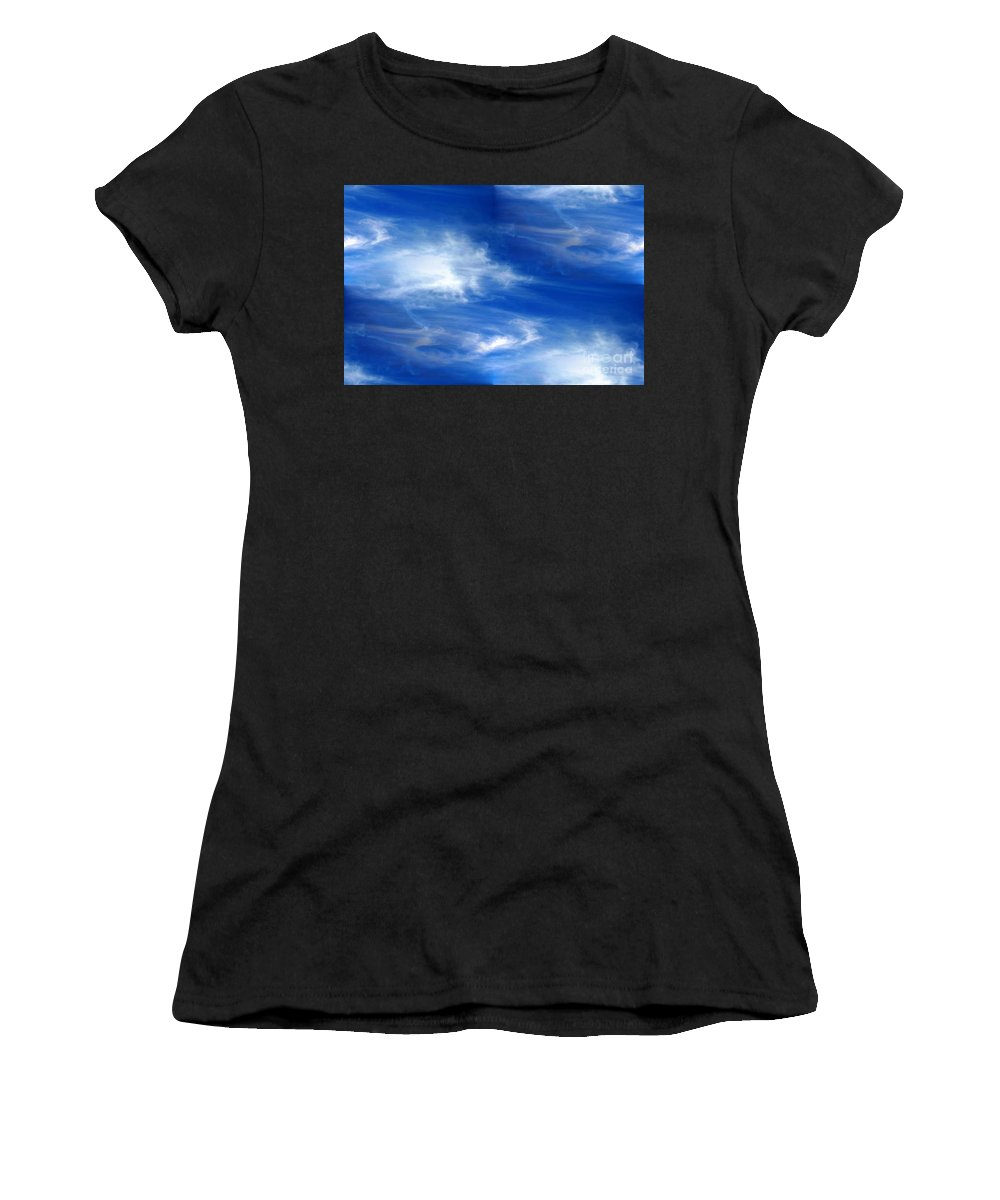 Seamless Women's T-Shirt (Athletic Fit) featuring the photograph Seamless Background Sky by Henrik Lehnerer