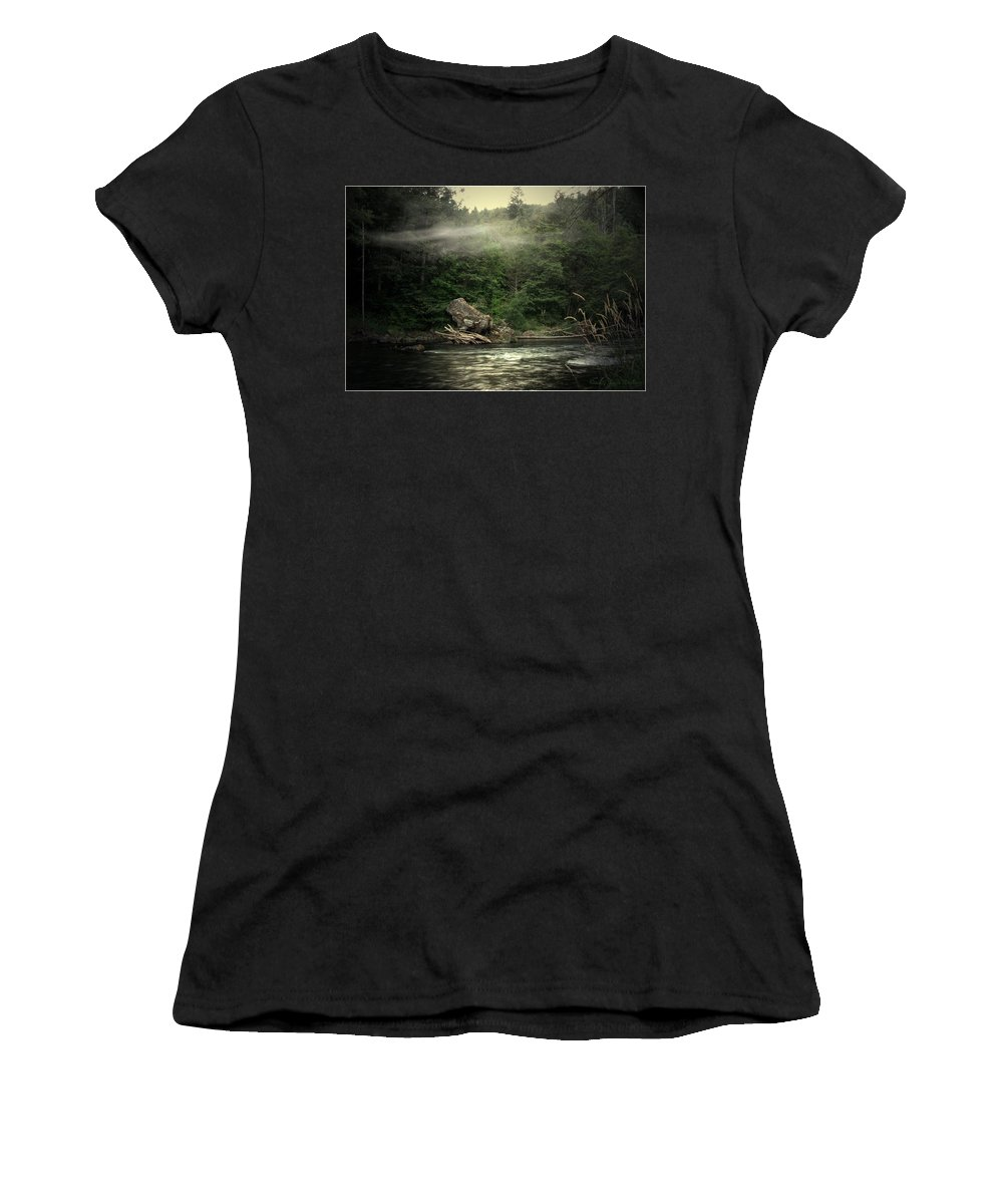 River Women's T-Shirt featuring the photograph Seclusion On The Trinity by Joyce Dickens