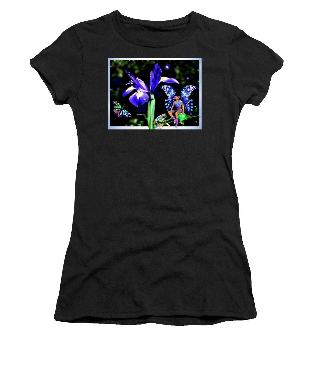 Secret Women's T-Shirt featuring the digital art Secret Garden by Hartmut Jager