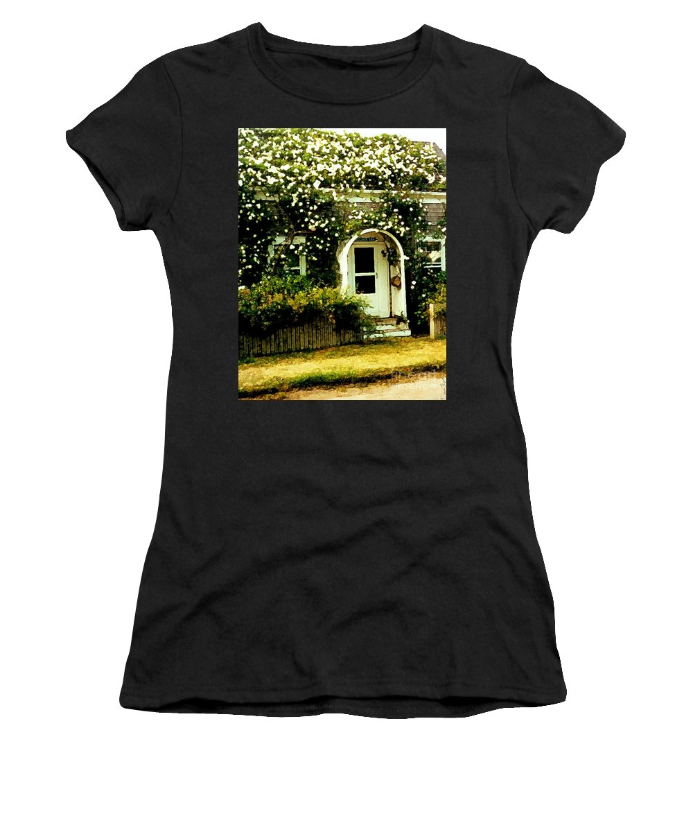 Cottage Women's T-Shirt (Athletic Fit) featuring the photograph Seldom Inn by Desiree Paquette
