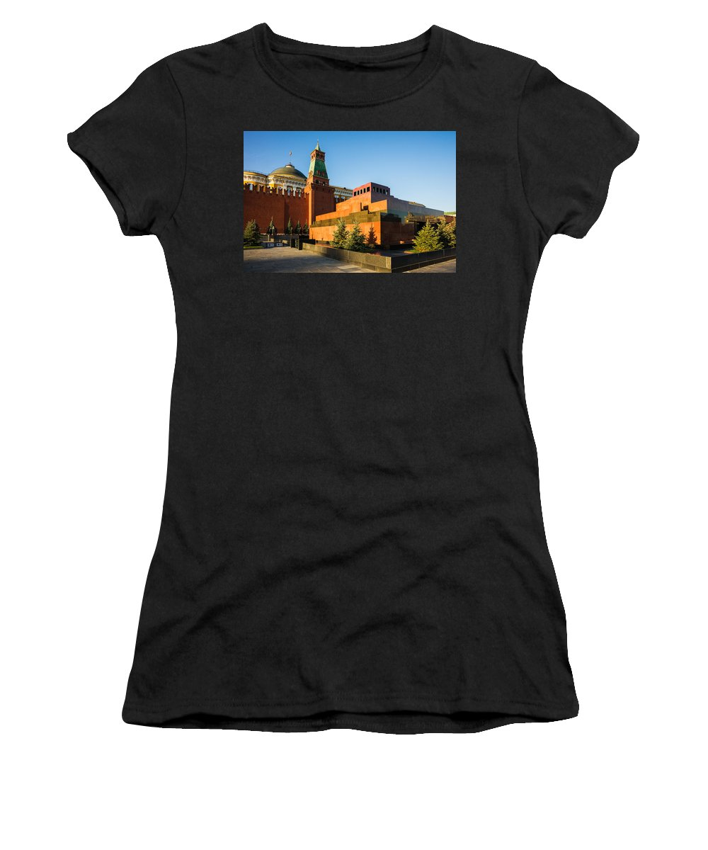 Architecture Women's T-Shirt (Athletic Fit) featuring the photograph Senate Tower And Lenin's Mausoleum by Alexander Senin