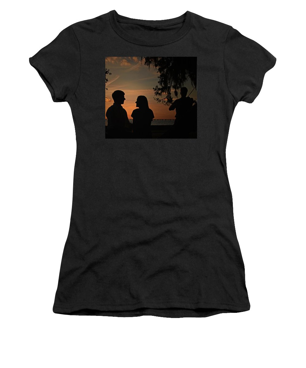 Women's T-Shirt featuring the photograph Serene Serenade by Tony Tribou