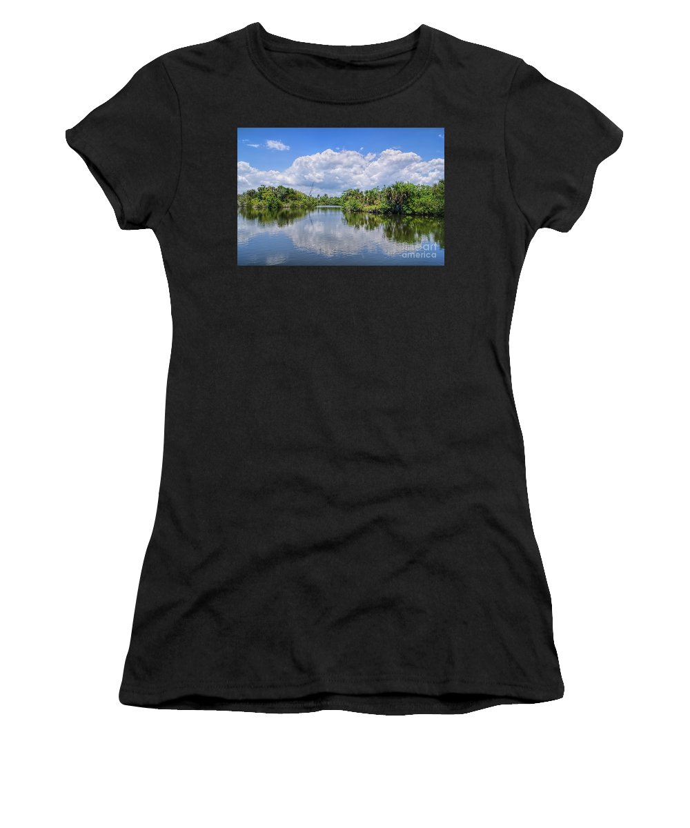 Landscape Women's T-Shirt (Athletic Fit) featuring the photograph Serenity by Olga Hamilton