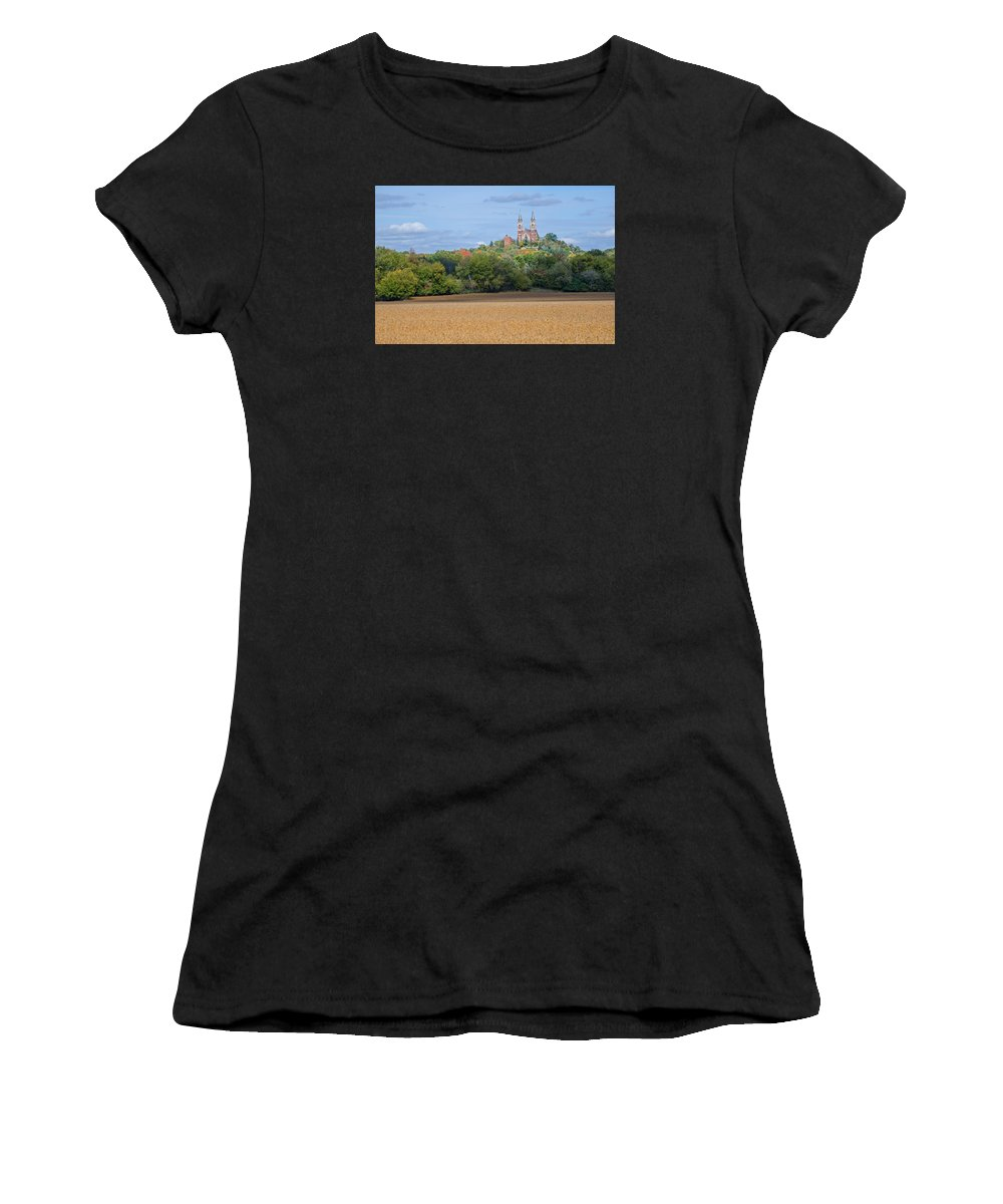 Serenity On High Women's T-Shirt (Athletic Fit) featuring the photograph Serenity On High  by Susan McMenamin
