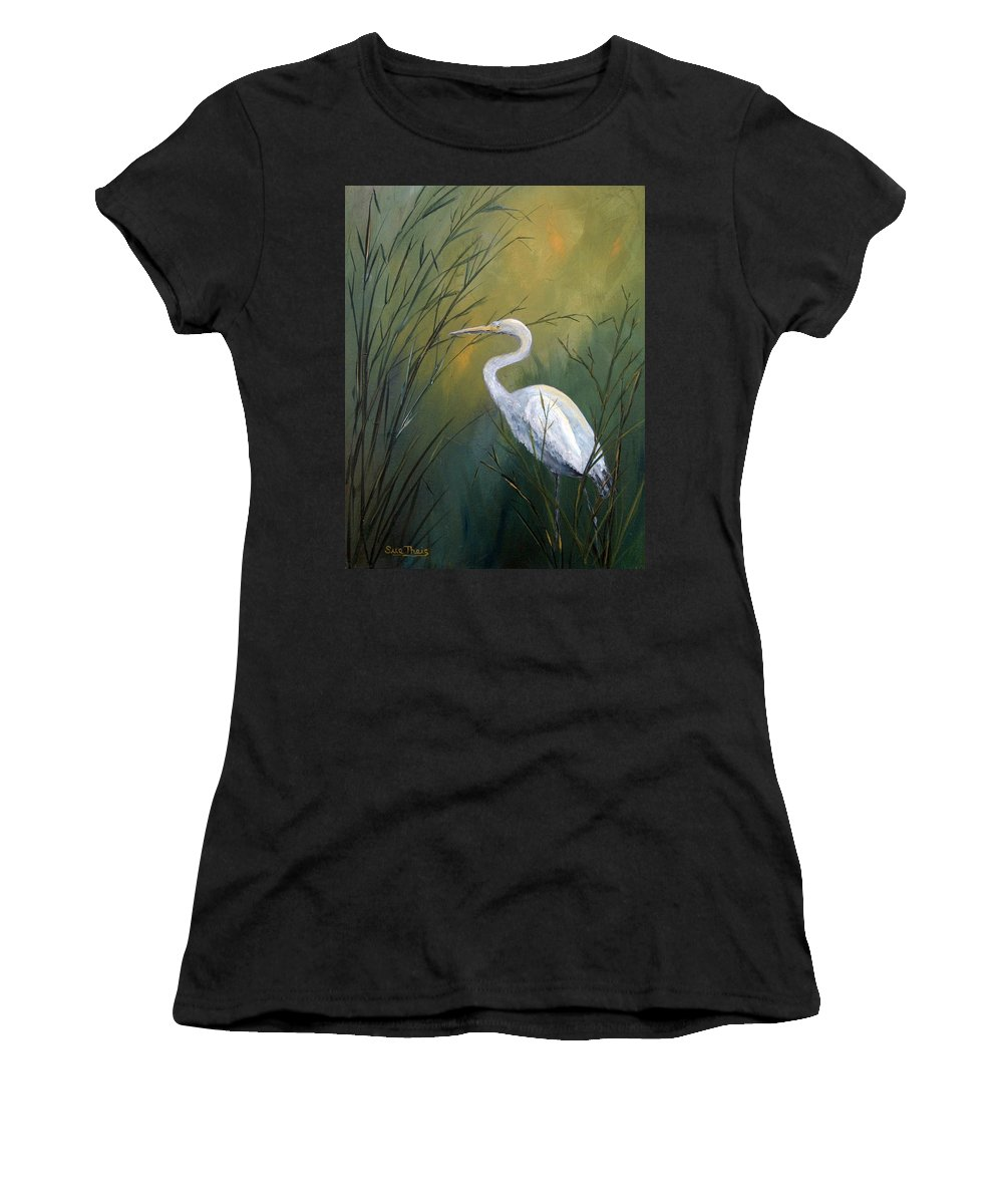 Louisiana Art Women's T-Shirt featuring the painting Serenity by Suzanne Theis