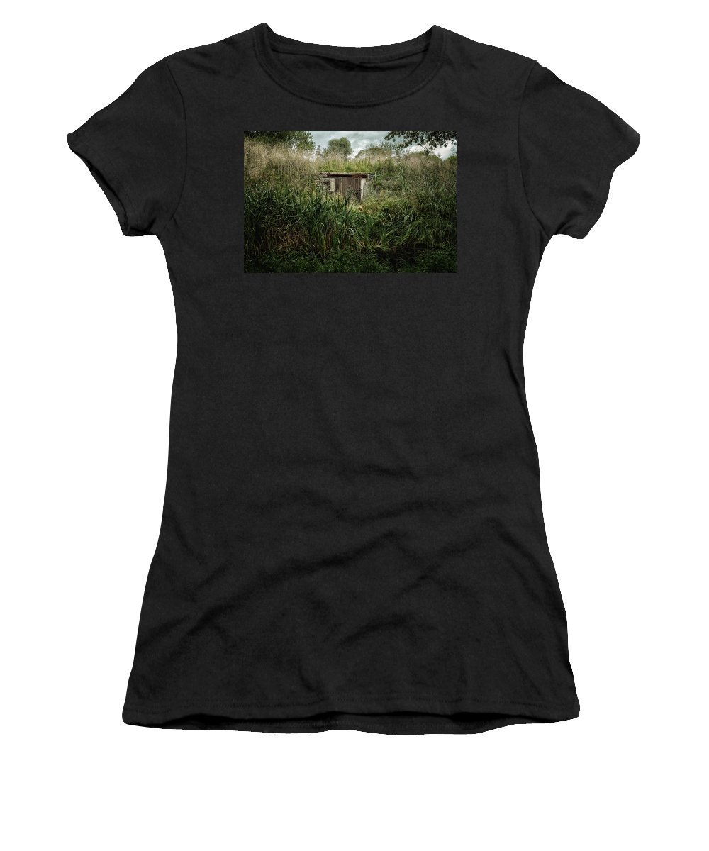 Joan Carroll Women's T-Shirt featuring the photograph Shack In The Park by Joan Carroll