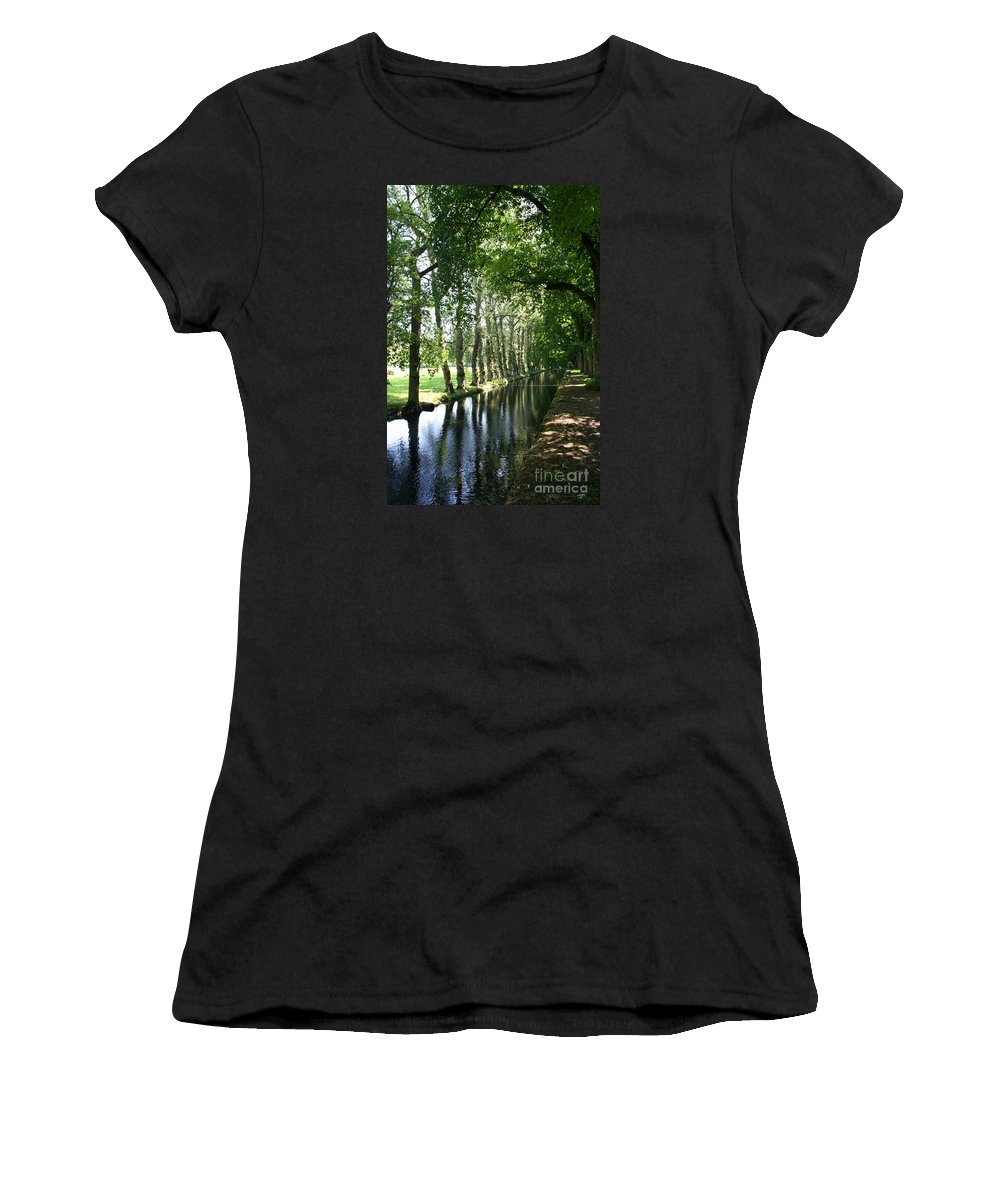 Parkway Women's T-Shirt featuring the photograph Shady Creek by Christiane Schulze Art And Photography