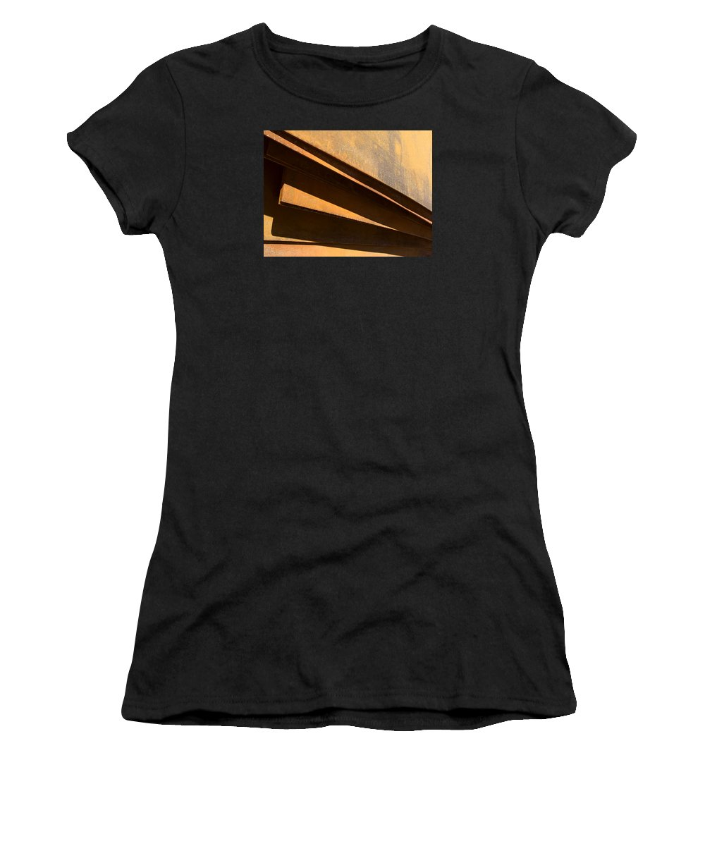 Sheets Of Iron Women's T-Shirt featuring the photograph Sheets Of Iron by Robert VanDerWal