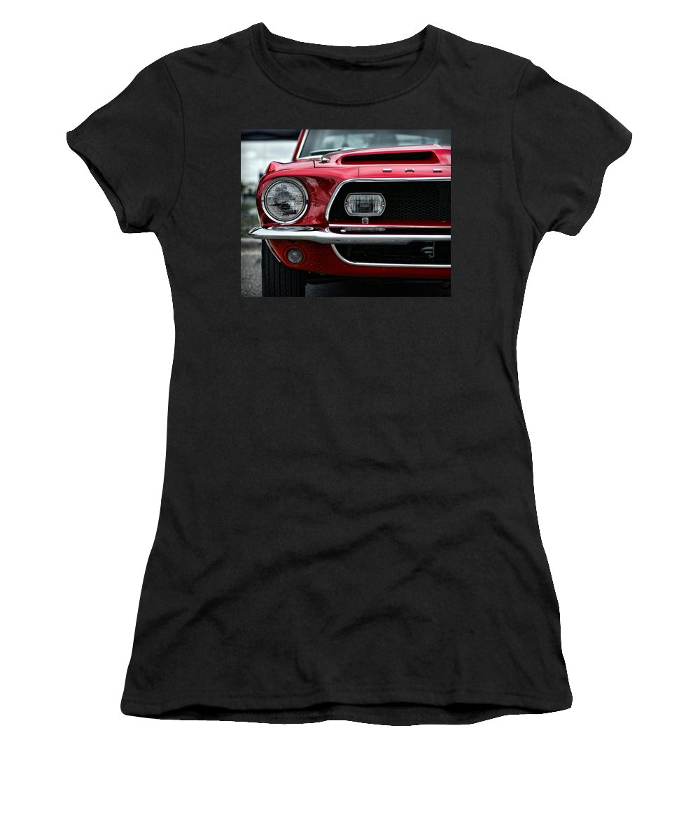 1968 Women's T-Shirt featuring the photograph Shelby Mustang by Gordon Dean II
