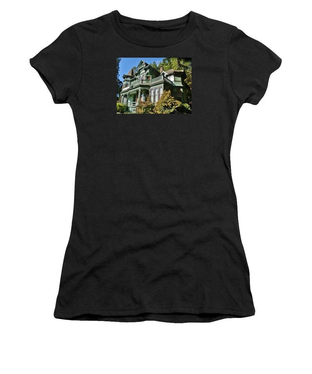 House Women's T-Shirt featuring the photograph Shelton-mcmurphey House by VLee Watson