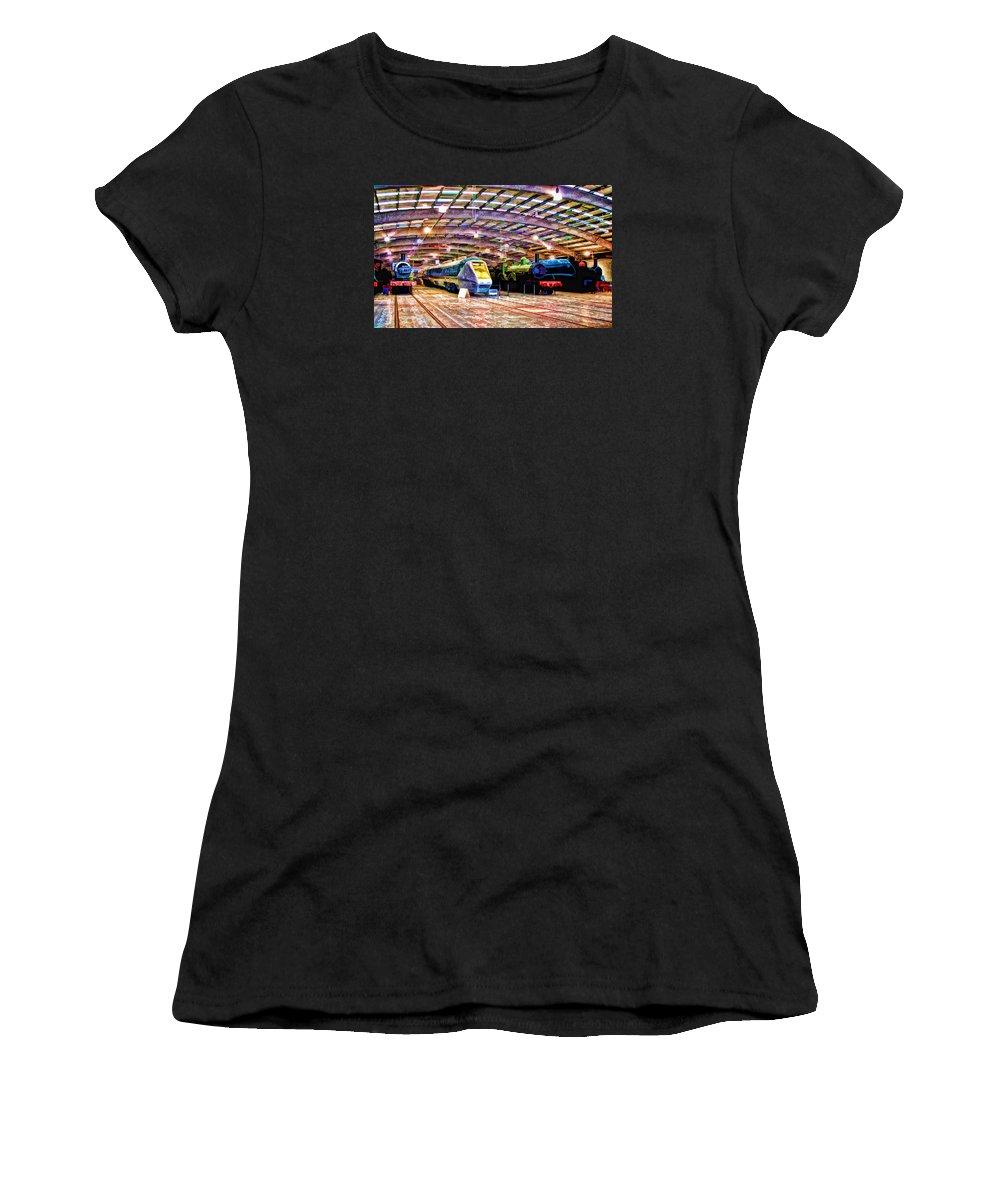 Shildon Women's T-Shirt featuring the digital art Shildon Railway Museum by John Lynch
