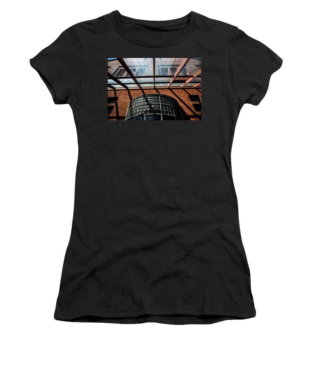 Shining Thru Women's T-Shirt (Athletic Fit) featuring the photograph Shining Thru by Karol Livote